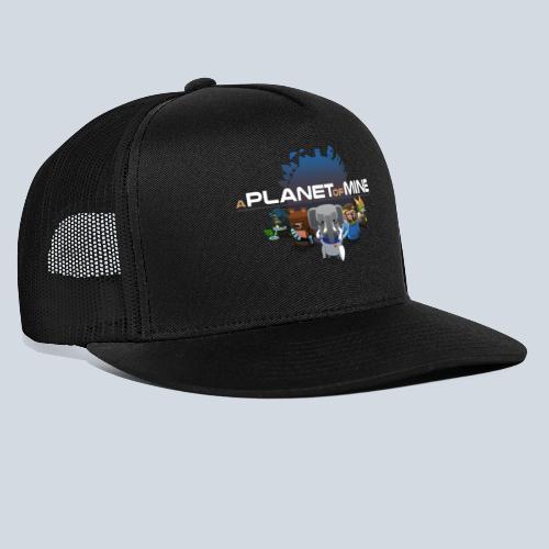 logo planetofmine dark HD - Trucker Cap