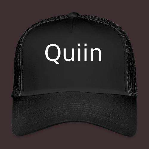 White_Quiin_outline - Trucker Cap
