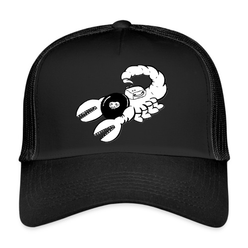 Space Scorpions?! (Black and White) - Trucker Cap