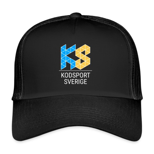 Kodsport kvadratisk logotyp - vit text - Trucker Cap