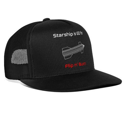 Starship-like Wireframe is Ready for Flip n' Burn - Trucker Cap