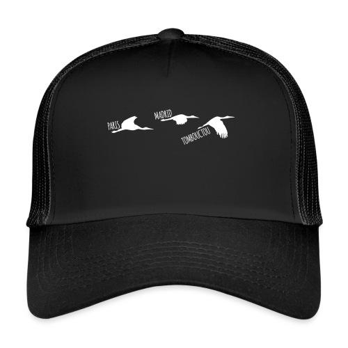 3 horizons oiseaux white - Trucker Cap