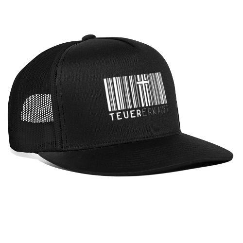 Teuer Erkauft Barcode Jesus Kreuz - Christlich - Trucker Cap