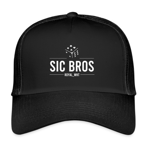 sicbros1 royal wht - Trucker Cap