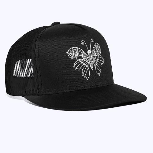 Schmetterling weiss - Trucker Cap