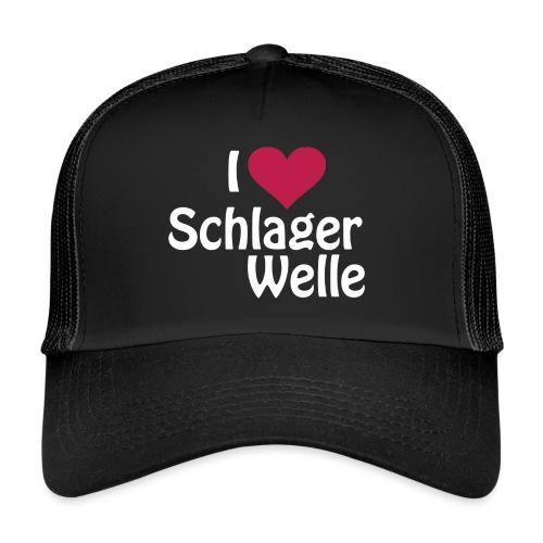 I love Schlagerwelle - Logo in Weiß - Trucker Cap