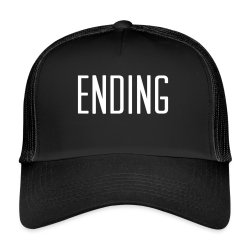 Simple Ending Text - Trucker Cap