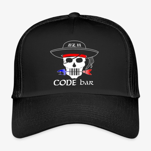 Code Bar white - Trucker Cap