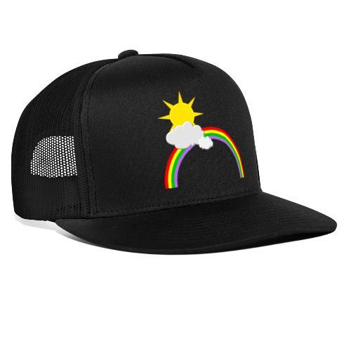 Regenbogen, Sonne, Wolken - Trucker Cap