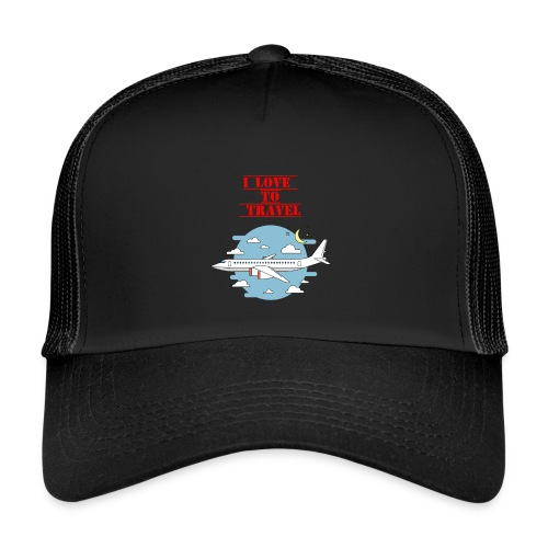I Love To Travel - Trucker Cap