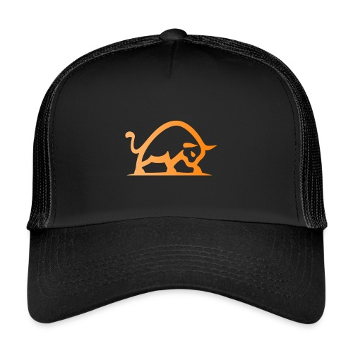 bull alone with transpare - Trucker Cap