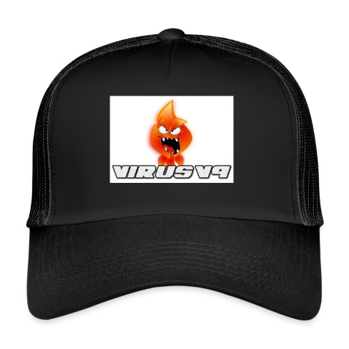 Virusv9 Weiss - Trucker Cap