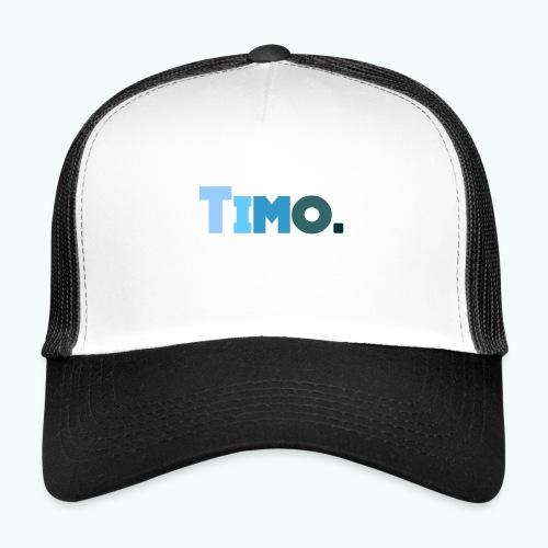 Timo in blauwe tinten - Trucker Cap