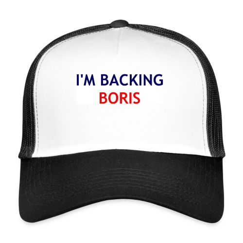 Backing Boris - Boxer Shirts - Trucker Cap