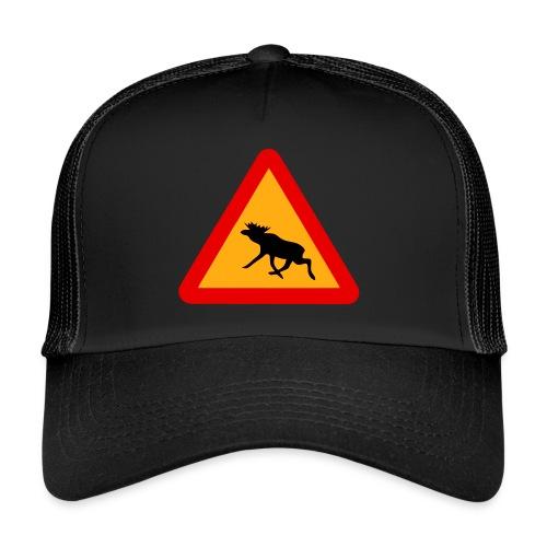 Warnung Elch! Älg! Moose! Schweden Sweden (vektor) - Trucker Cap