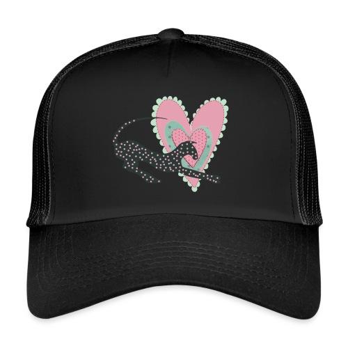 Rosa prickar hjärta - Trucker Cap
