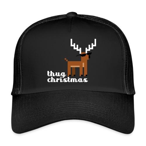 Christmas Xmas Deer Pixel Funny - Trucker Cap