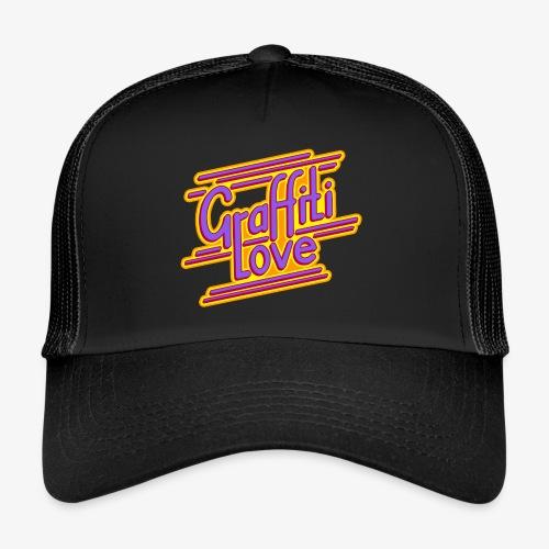 graffiti love type1 redviolet - Trucker Cap