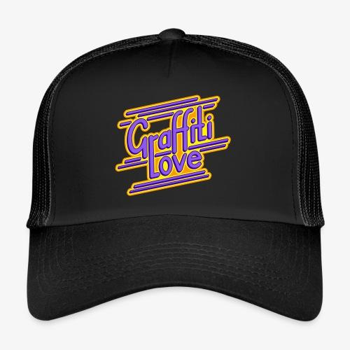 graffiti love type1 blueviolet - Trucker Cap