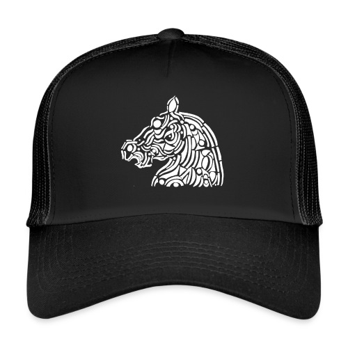horse - cheval blanc - Trucker Cap