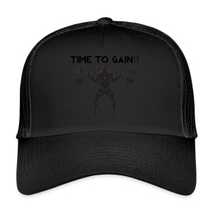 TIME TO GAIN! by @onlybodygains - Trucker Cap