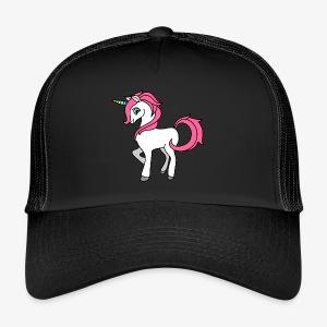 Süsses Einhorn mit rosa Mähne und Regenbogenhorn - Trucker Cap