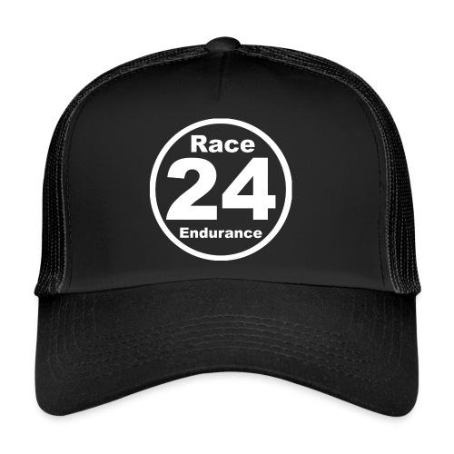 Race24 round logo white - Trucker Cap
