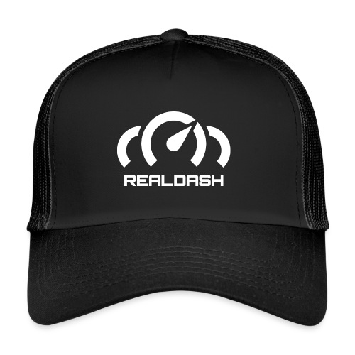 RealDash logo white - Trucker Cap