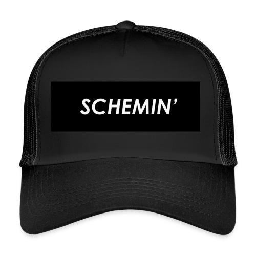 SCHEMIN' Black/White colour way - Trucker Cap