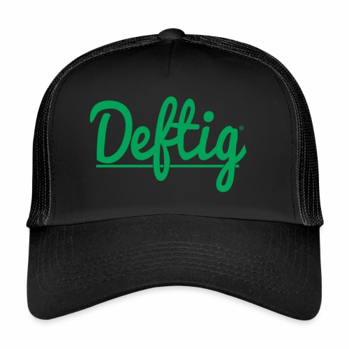 Deftig_underline_green - Trucker Cap