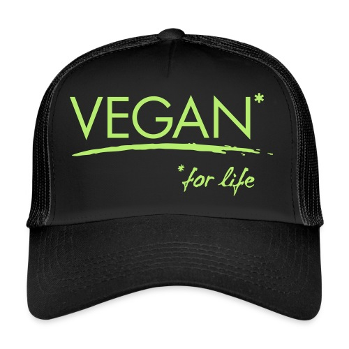 vegan for life 1c - Trucker Cap