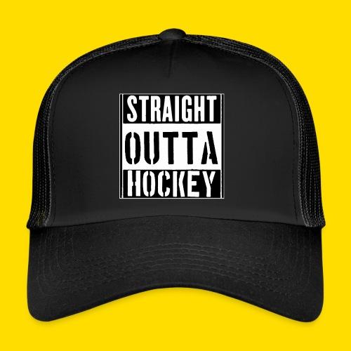 straight outta hockey // Eishockey Fun Shirt - Trucker Cap
