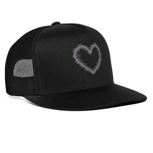 Diamant Herz mit Herz Rosa - Trucker Cap
