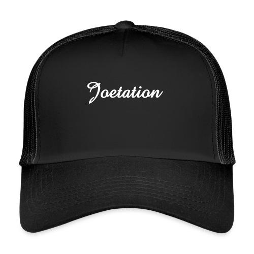 White Text Joetation Signature Brand - Trucker Cap