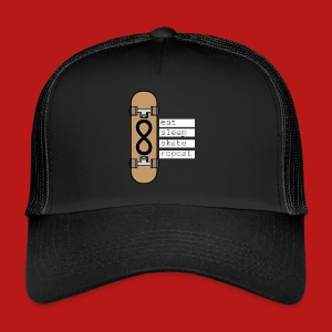 eat sleep skate repeat - Trucker Cap