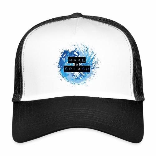 Make a Splash - Aquarell Design in Blau - Trucker Cap