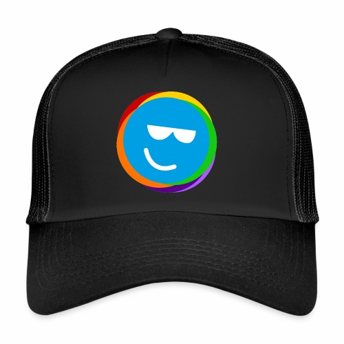 my better life - happy smiley blue - Trucker Cap