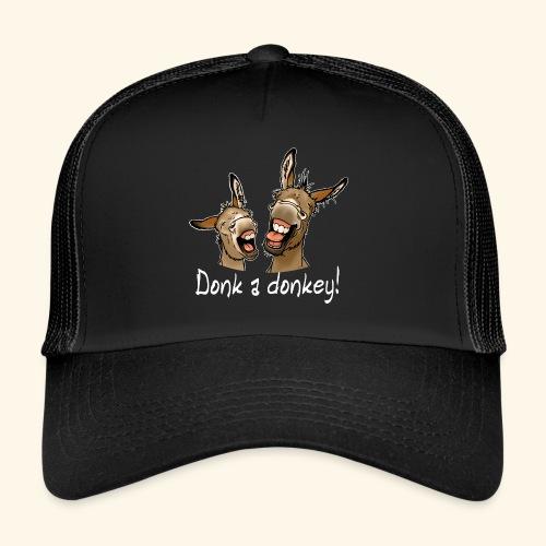 Ane Donk a donkey (texte blanc) - Trucker Cap