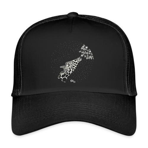 Giraffe eating stars (sin fondo) - Gorra de camionero