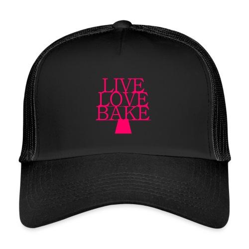 LiveLoveBake ekstra stor - Trucker Cap