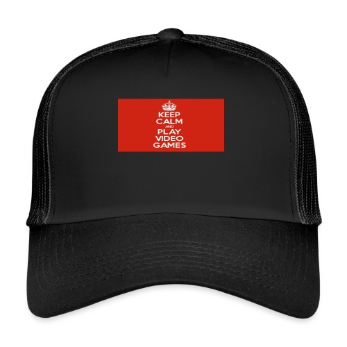 play does games - Trucker Cap
