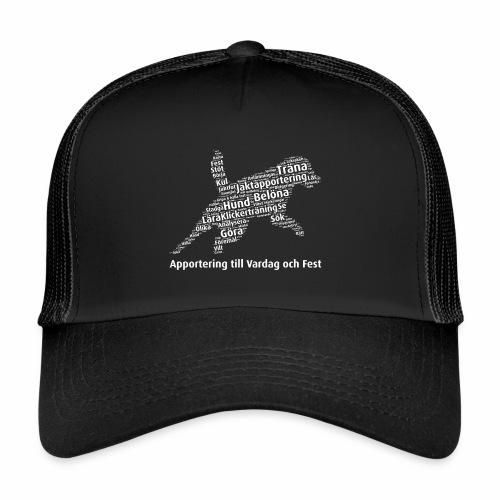 Apportering till vardag och fest wordcloud vitt - Trucker Cap