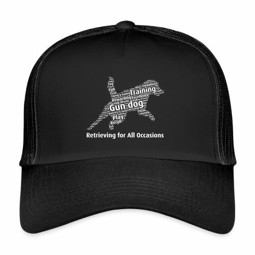 Retrieving for All Occasions wordcloud vitt - Trucker Cap