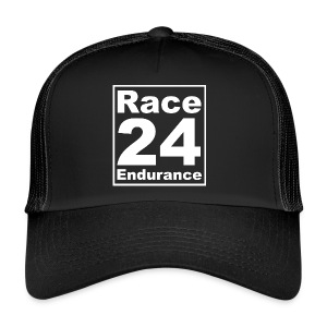 Race24 Logo - White - Trucker Cap