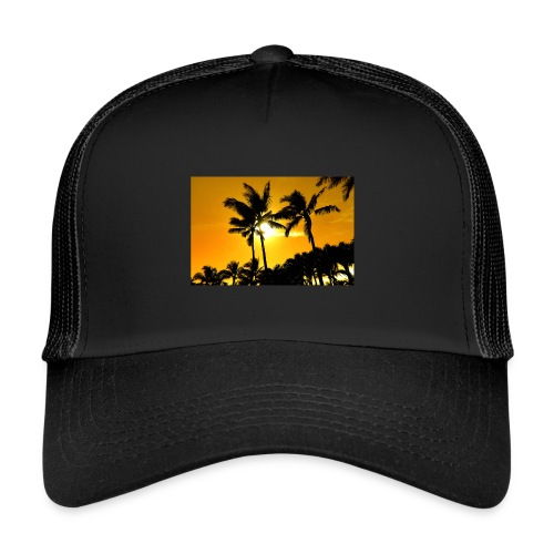 pam trees - Trucker Cap