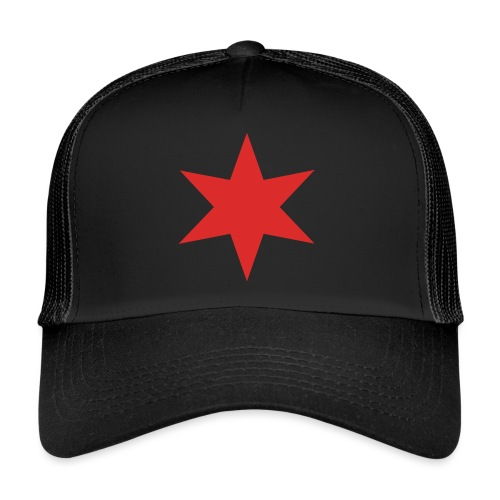 Red Chicago Star - Trucker Cap
