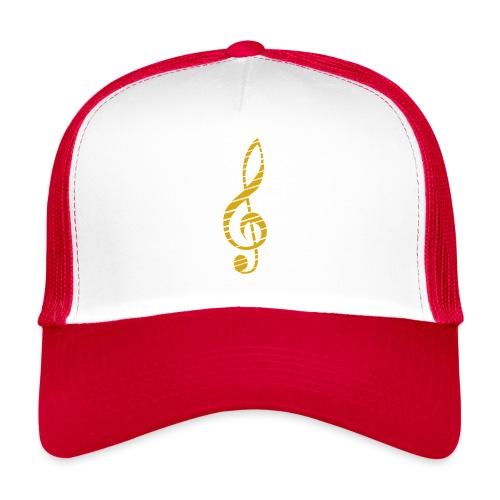 Goldenes Musik Schlüssel Symbol Chopped Up - Trucker Cap