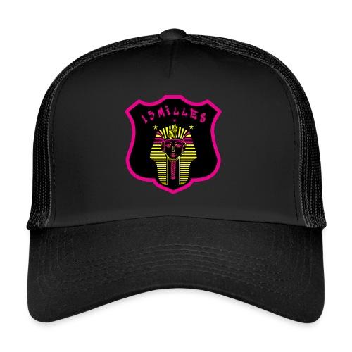 Pharaon Noir, Rose, Jaune hyper design - Trucker Cap
