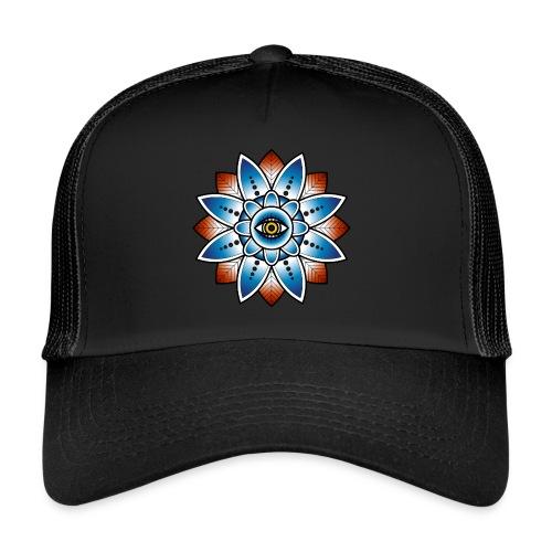 Psychedelisches Mandala mit Auge - Trucker Cap