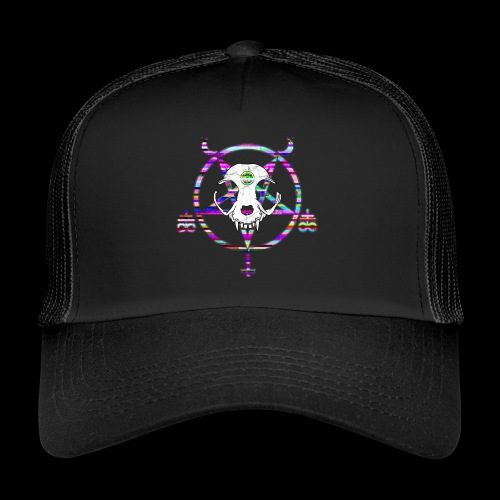 glitch cat - Trucker Cap